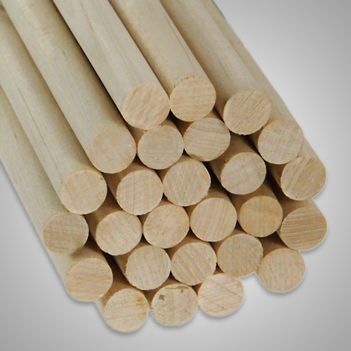 3 4 Dowel Rods X 24 Birch All Sizes Amp Woods At Caldowel Quality Wood Products