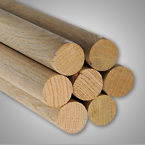 2 X 60 Oak Dowel Rods All Sizes Woods At Caldowel Quality Wood Products